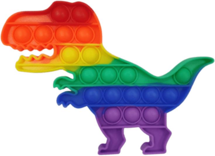 Поп ит оптом радужный динозавр хорошего качества