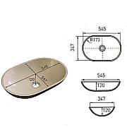 Раковина на столешницу с искусственного камня Stoner (OV207)