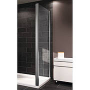 Стенка боковая 100см (профиль гл хром, стекло прозрачное) HUPPE X1 140507069321