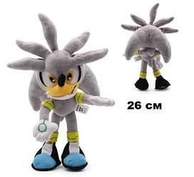 М'яка іграшка Соник Сільвер Сіра тінь Sonic the Hedgehog Silver SS 04.04