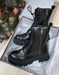 Ботинки | обувь Balenciaga Tracktor Black Matte Plush (МЕХ)