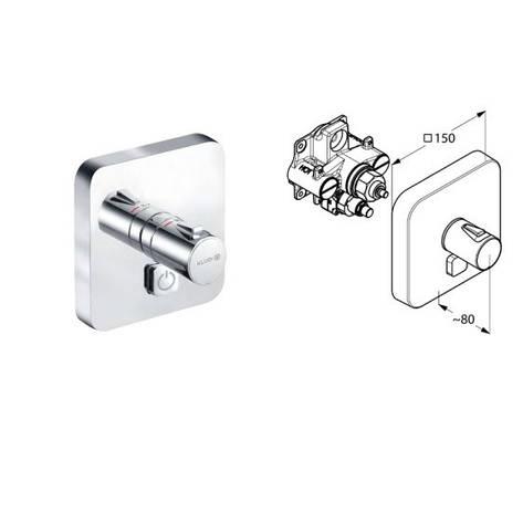 Вбудований термостат для душу KLUDI PUSH 388030538, фото 2