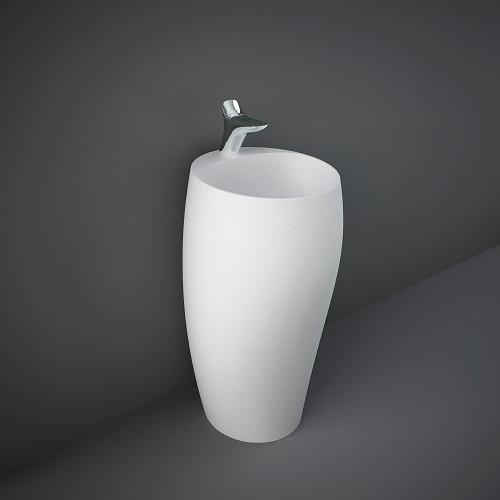 Раковина напольная монолитная, белый матовый, RAK CLOFS5001500A CLOUD