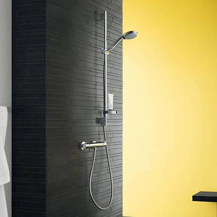Термостат для душа Hansgrohe Ecostat, черный матовый (13116670), фото 2