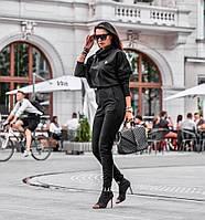 Женский стильный костюм с укороченным топом, фото 1