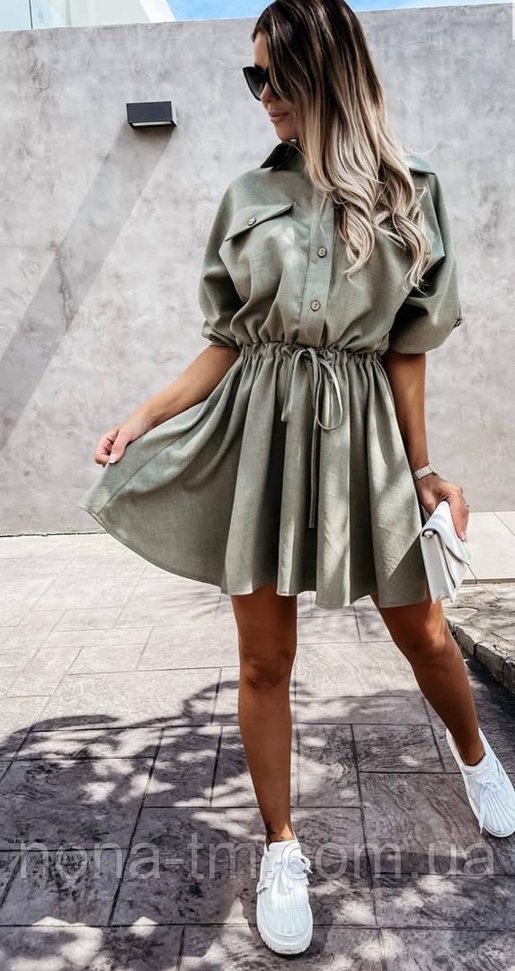 Жіноча сукня -сорочка літня з на гудзиках