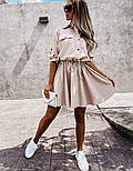 Жіноча сукня -сорочка літня з на гудзиках, фото 4