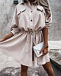 Жіноча сукня -сорочка літня з на гудзиках, фото 5