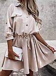 Жіноча сукня -сорочка літня з на гудзиках, фото 6
