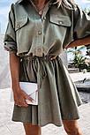 Жіноча сукня -сорочка літня з на гудзиках, фото 2