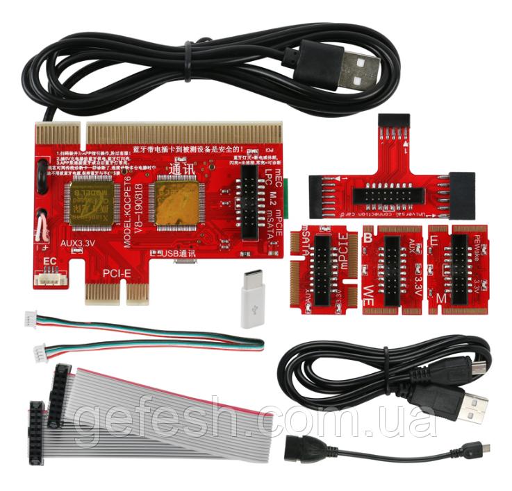 Пост карта post card для ПК и ноутбук KQCPET6 V8 PCI / PCI-E / LPC MiniPCI-E