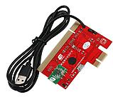 Пост карта post card для ПК и ноутбук KQCPET6 V8 PCI / PCI-E / LPC MiniPCI-E, фото 3