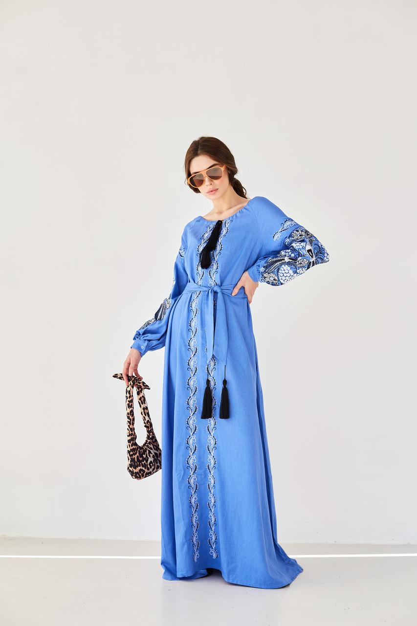 """Платье с вышивкой в стиле """"Петраковка"""""""