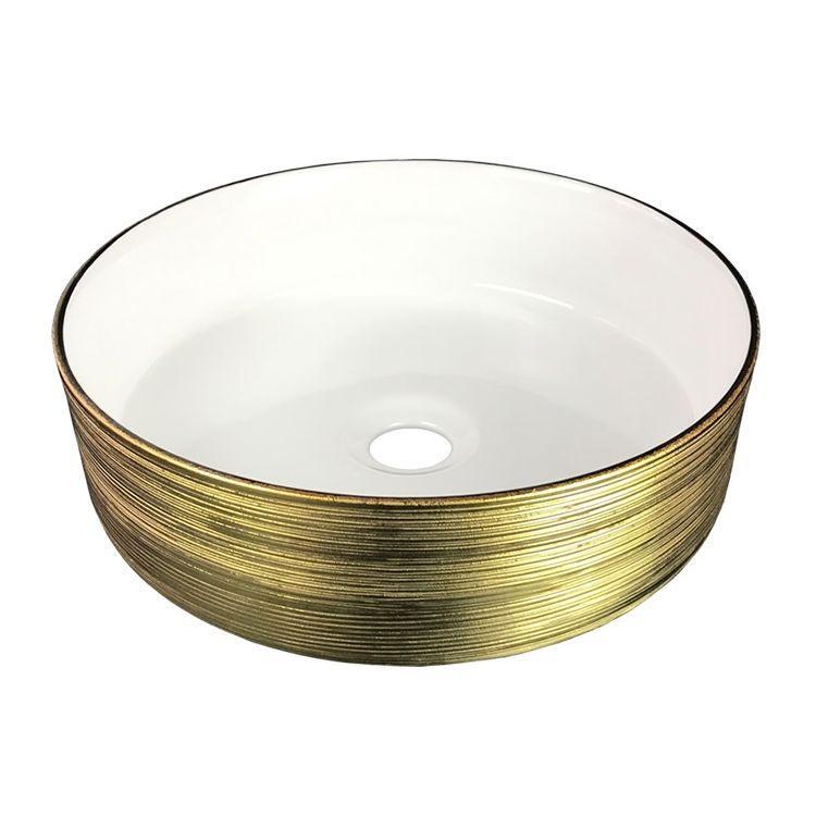 Умывальник 36 см круглый золото, Volle 13-40-222G