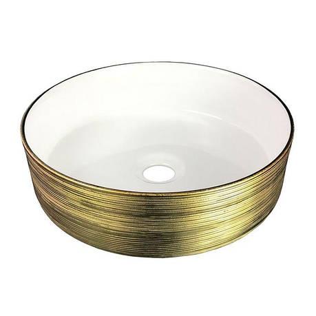 Умывальник 36 см круглый золото, Volle 13-40-222G, фото 2