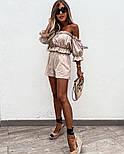 Жіночий літній костюм двійка з льону, фото 3
