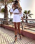 Жіночий літній костюм двійка з льону, фото 5