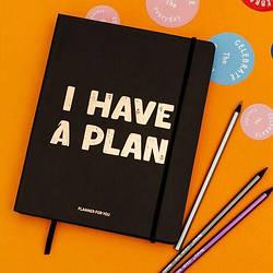 """Блокнот для планированния """"I have a plan"""" черный"""