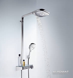 Душевая система Hansgrohe Raindance Select E 300 3Jet с термостатом, хром (27127000), фото 2