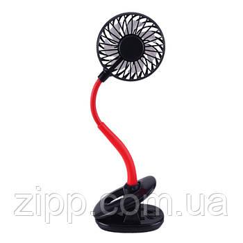 Настольный бесшумный вентилятор на гибкой ножке с клипсой и подсветкой  Настольный портативный вентилятор