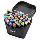 Набор скетч маркеров 48 цветов  Двухсторонние маркеры для рисования Набор маркеров для скетчинга в сумке, фото 6