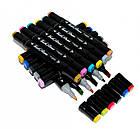 Набор скетч маркеров 48 цветов  Двухсторонние маркеры для рисования Набор маркеров для скетчинга в сумке, фото 5