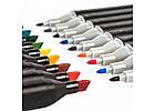 Набор скетч маркеров 48 цветов  Двухсторонние маркеры для рисования Набор маркеров для скетчинга в сумке, фото 3