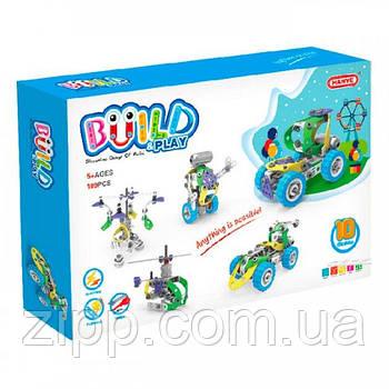 Конструктор Build&Play 5 в 1 з мотором 109 ел.   Конструктор-механік для дітей   Розвиваючий конструктор