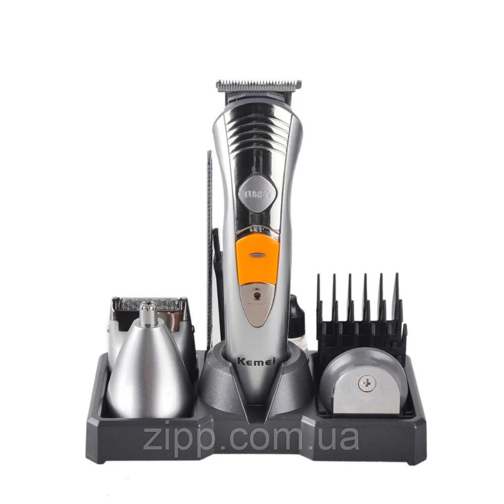 Набор для стрижки Kemei 580 7в1 | Триммер для стрижки бороды | Машинка для стрижки | Набор для стрижки волос