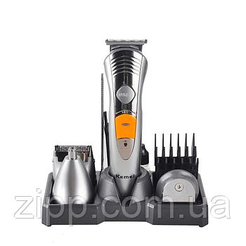 Набір для стрижки Kemei 580 7в1   Триммер для стрижки бороди   Машинка для стрижки   Набір для стрижки волосся