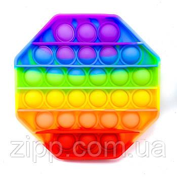 Гра Pop it ромб різнобарвний   Сенсорний антистрес   Силіконовий різнобарвний антистрес   По піт   За пыт