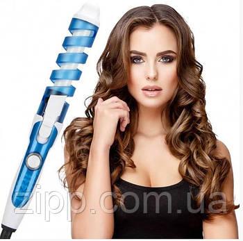 Плойка спіральна Rizhen Perfect Curl RZ 118 NOVA Блакитний