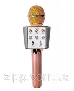 Мікрофон-Караоке Bluetooth WSTER WS-1688 Rose