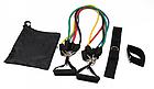 Універсальний набір еспандерів Бубновського з 5 шт EasyFit (трубчасті гумові джгути для фітнесу), фото 2