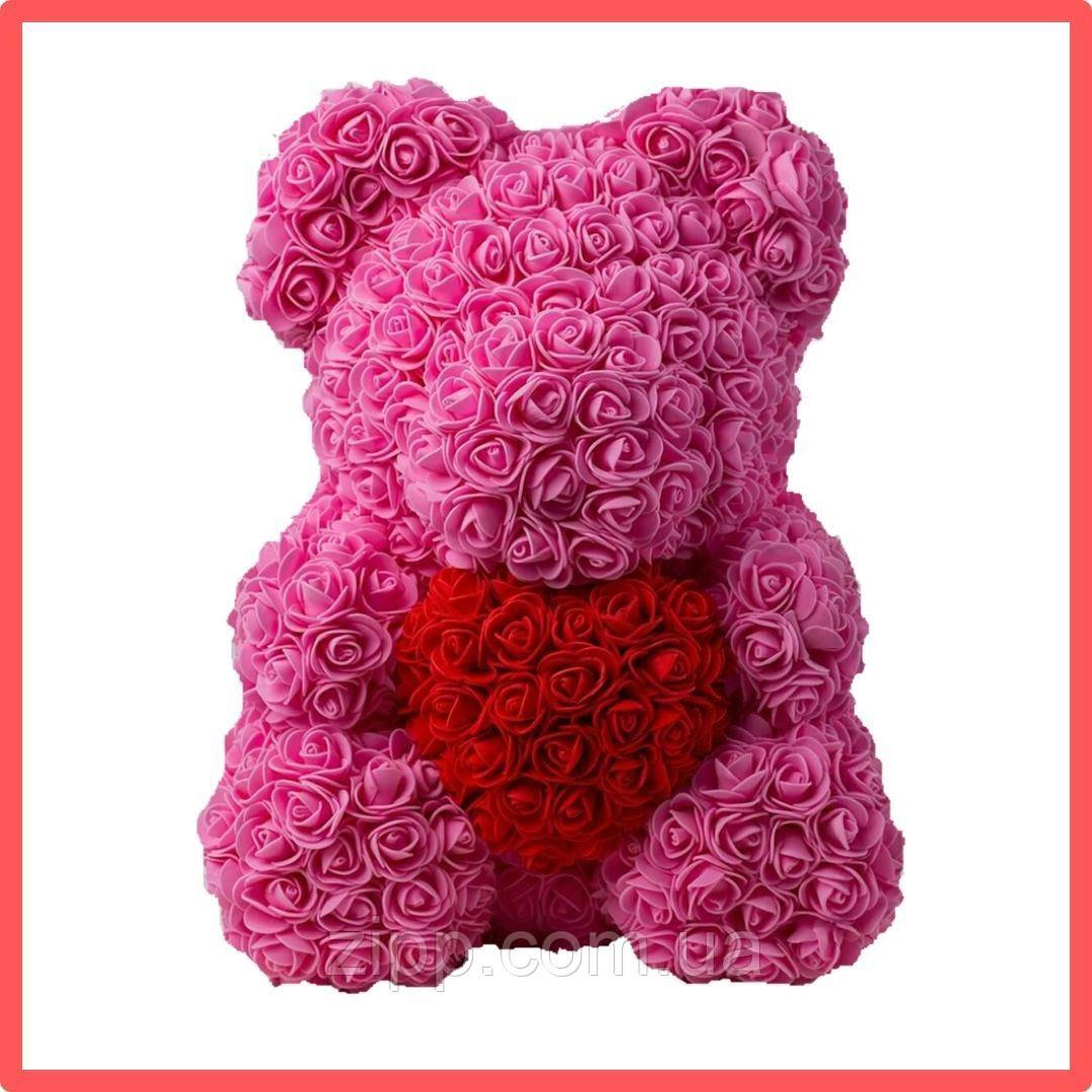Мишка из роз ROSE BEAR| Мишка из цветов| Розовый