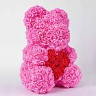 Мишка из роз ROSE BEAR| Мишка из цветов| Розовый, фото 3