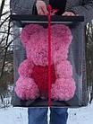 Мишка из роз ROSE BEAR| Мишка из цветов| Розовый, фото 4