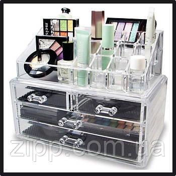 Подставка-органайзер для косметики  COSMETIC STORAGE BOX  Настольный ящик  Органайзер для хранения косметики