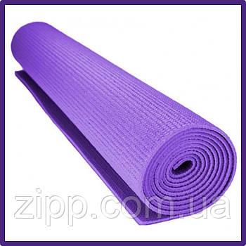 Коврик для йоги Yoga Mat PS-4014 фиолетовый  Коврик для фитнеса и йоги