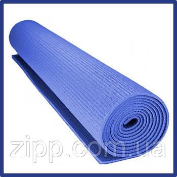 Коврик для фитнеса и йоги Yoga Mat PS-4014 синий  Коврик для йоги