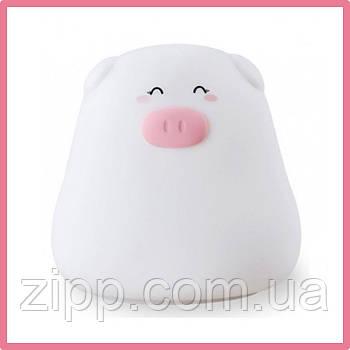 Силіконовий нічник СВИНКА MINI PIG  Світильник  Дитячий силіконовий нічник