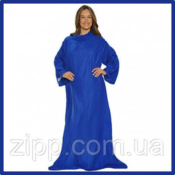 Плед с рукавами SNUGGIE синий  Одеяло-плед  Флисовый плед