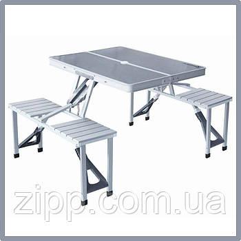 Розкладний стіл з 4-ма стільцями Travel Table| Похідний стілець