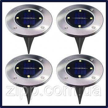 Лампа заземлення сонячної енергії набір 4 шт 8 led  Вуличний світильник