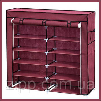 Тканевый шкаф для хранения обуви Shoe Cabinet 108х30х110 см