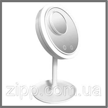 Зеркало с подсветкой и вентилятором Beauty Breeze Mirror  Зеркало для макияжа с подсветкой