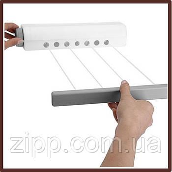 Раздвижная роликовая сушилка для белья  Автоматическая бельевая веревка