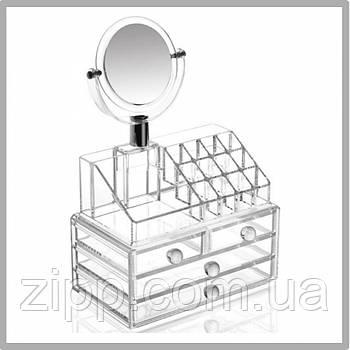 Підставка-органайзер для косметики| COSMETIC STORAGE BOX| Настільний ящик| Органайзер для зберігання косметики