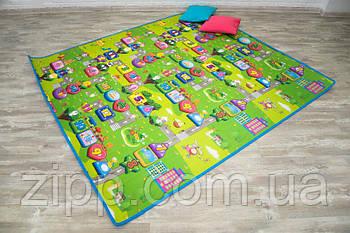 Дитячий килимок 2*1.8 м  Килимок складаний для повзання Звірі