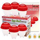 Формочки для варіння яєць без шкаралупи Egg Boil| Силіконові форми для варіння яєць, фото 4